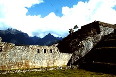 Machu Picchu, Peru, the ancient Inka city.