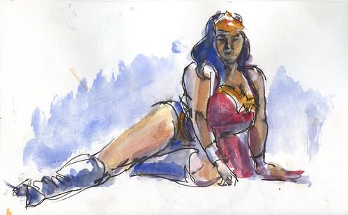 Wonder Woman @ Dr. Sketchy