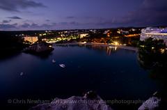 Cala Galdana Twilight View (milo42) Tags: bay boat twilight spain esp menorca baleares 2011 ferreries httpwwwchrisnewhamphotographycouk calagaldanaviewpoint