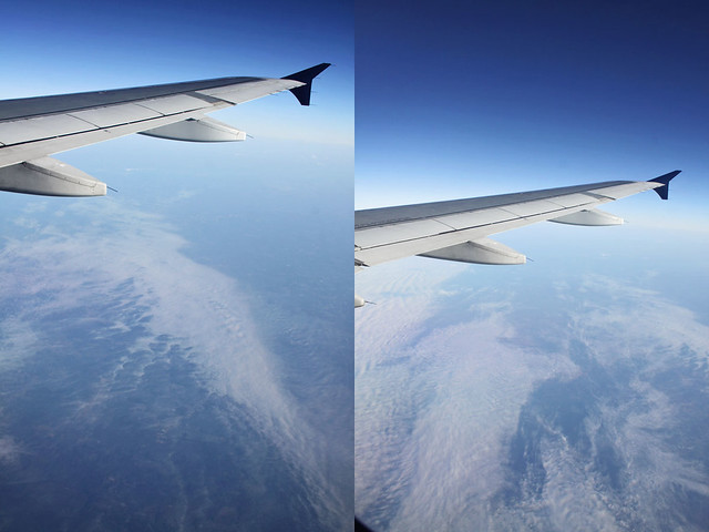 airplane window diptych 3