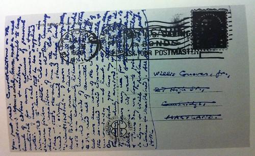 Lovecraft handwritten postcard