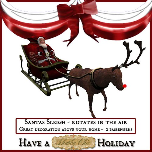 Shabby Chic Santas Sleigh - Flies through the air (rotating) by Shabby Chics