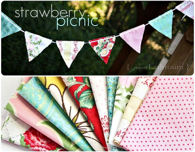 Strawberry Picnic Bunting