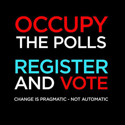 Occupy the Polls button