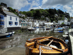 Low tide at Polperro (rosyrosie2009) Tags: uk sea seascape water photography coast cornwall photos ps hdr polperro compact westcountry coastpath southwestcoastpath devonandcornwall rosiesphotos canong10 riverpol rosiespooner rosyrosie2009 rosemaryspooner rosiespoonerphotography