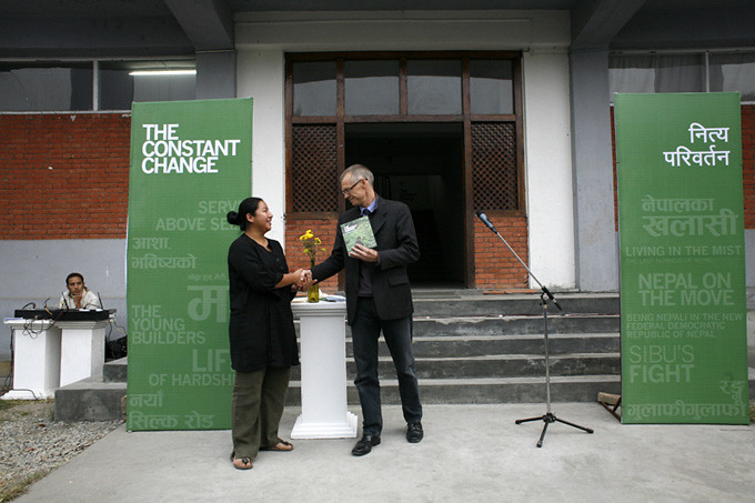 The OPENING: Danish Ambassador to Nepal launches the book. Photo: Kishor K. Sharma