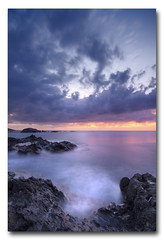 (jose.singla) Tags: light espaa costa seascape color sunrise canon landscape coast mar rocks sigma paisaje andalucia amanecer cielo reflexions 1020 almeria rocas 50d josesingla joseantoniogimenez