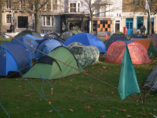 Occupy Brighton camp