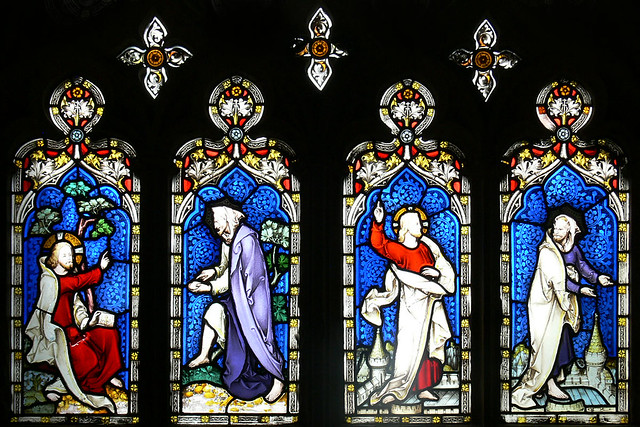 Temptation of Jesus, Hardman Gloucester, Stained Glass