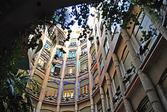 In the Courtyard of Casa Mil (chrisshots) Tags: barcelona windows art architecture photoshop wonderful spain nikon courtyard espana gaudi sincity modernisme casamil refelctions lapedrera chrisshots d3000 bestcapturesaoi