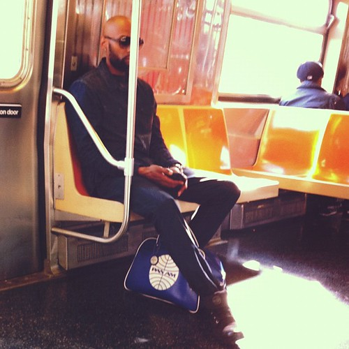 Handsome stranger with a PanAm bag