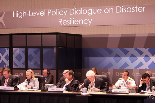 Secretary Clinton announcing the PRCC platform in her remarks at the high-level policy dialogue on disaster resilience