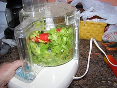 tomatoes, peppers, chopping, food processor