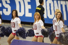 Cheerleaders, Montreal Alouettes, Sony A55, Minolta 500mm Reflex Lens, Montreal, 13 November 2011 (24) (proacguy1) Tags: cheerleaders montreal cheer cheerleading montrealalouettes cherleader sonya55 minolta500mmreflexlens 13november2011