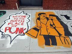 Artist Alley @ Extra Place: Groundbreak, Abe Lincoln, Jr. (Scoboco) Tags: nyc newyorkcity streetart eastvillage graffiti gothamist abelincolnjr artistalley extraplace fourthartsblock groundbreakatextraplace fabextraplace sidewalkmuralextraplace welcometothebirthplaceofpunk