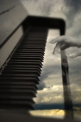 The pause is as important as the note (Explore) (MilaMai) Tags: clouds hand artistic fingers piano nails selfpotrait
