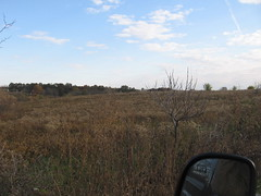 driving along southern boundary of red earth (henna lion) Tags: autumn community joan trust land homestead intentional 2011 kovatch joankovatch
