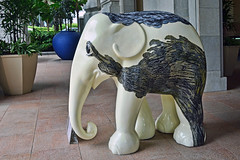 Elephant Parade - All Together (chooyutshing) Tags: elephant public artwork singapore display statues handpainted alltogether elephantparade 2011 thefullertonhotel simondchew