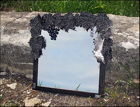 The Grapevine Custom Metal Mirror
