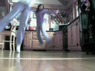 Mom jumping