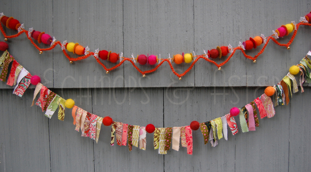 Homespun Felt Bauble Garland