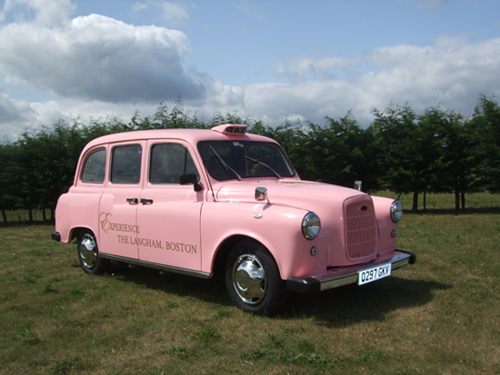 The Langham Boston, pink taxi