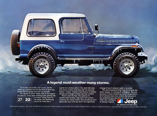 Jeep CJ-7 All-Weather Advertisement by lee.ekstrom