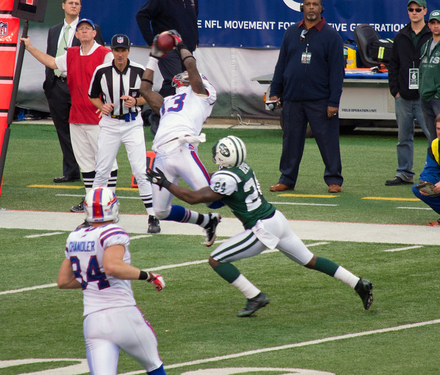 STEVE JOHNSON beating Revis