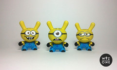 Minions Dunnys (WuzOne) Tags: kidrobot custom dunny gru minions vinyltoy munny artoy wuzone despicableme