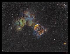 IC 443 (J-P Metsavainio) Tags: stars nebula astronomy gemini nebulae snr ic443 supernovaremnant spacecosmos starnebulaestarsstarfieldnebulaspaceemissionastronomydiffusecolorfulsnrsupernovaremnant
