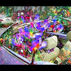 Volkswagen Convertible With Crocuses (Tim Noonan) Tags: flowers colour art digital photoshop volkswagen tim vivid convertible manipulation ornaments imagination violets hypothetical crocuses digi vividimagination artdigital shockofthenew trolled sotn newreality sharingart maxfudge awardtree maxfudgeexcellence maxfudgeawardandexcellencegroup magiktroll exoticimage digitalartscene netartii digitalartscenepro