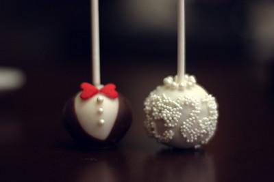 Bride Groom Cake Pops I Heart Yummy