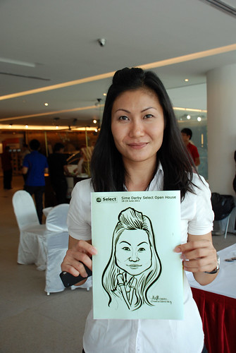 Caricature live sketching for Sime Darby Select Open House Day 2 - 10