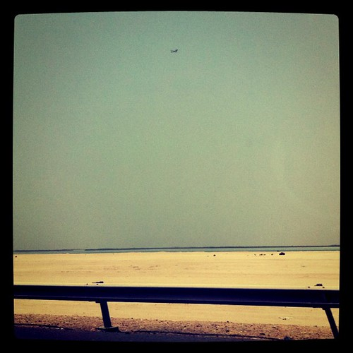 Saadiyat Island, Abu Dhabi. Did you see the plane?