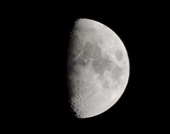 Dark of the Moon [EXPLORED!] ( (Ted)) Tags: moon night nikon craters freehand wow1 wow2 wow3 flickraward d5100 flickraward5 55mm300mm
