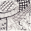 06-23-2011a (Blind Squirrel Photo Safari) Tags: art tile drawing hobby doodle tangle zentangle