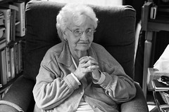 Great Grandma Hazel (maxwell.dunn) Tags: trip portrait white chicago black illinois interesting iowa greatgrandma explore hazel familyreunion frontpage 2011
