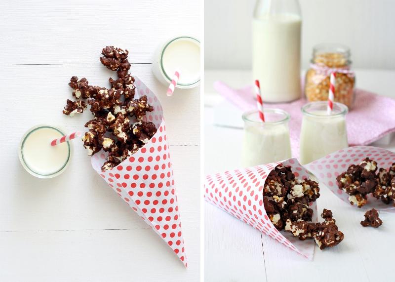 receta, recipe, chocolate, palomitas, palomitas de maiz, popcorn