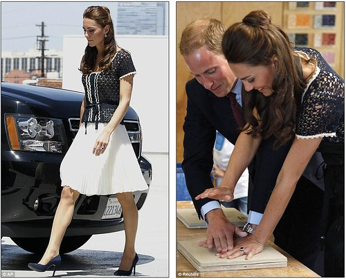 Royal snail  Kate races ahead with her painting at Inner-City Arts  campus whilst William is slow off the mark  6