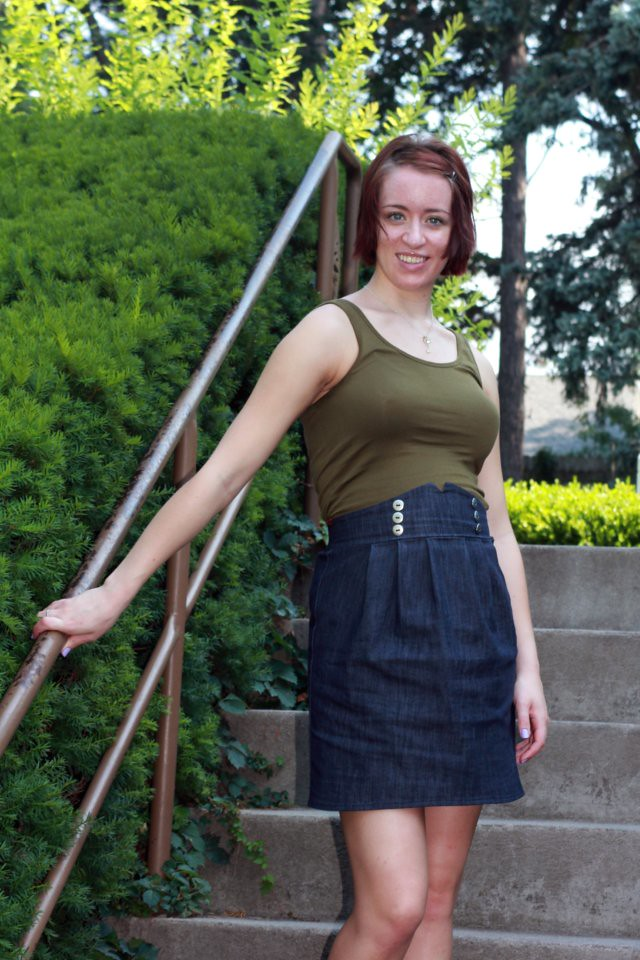 high waisted denim skirt, maternity fashion