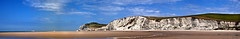 La plage... (JL) Tags: panorama sable falaise plage blancnez escalles estrang