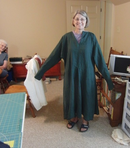Medieval Man's Tunic (modeled by my mother)