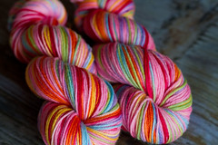 'pinkbow' on gaia organic worsted