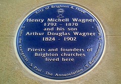 Photo of Henry Michell Wagner and Arthur Douglas Wagner blue plaque