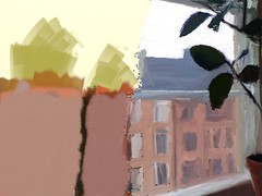 Skridskosöndag hemma (linek) Tags: ficuselastica artrage paintover