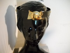 Golden Star Crown (brightcreations1) Tags: leather gold costume queen crown headband