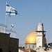 Bandeira israelense e a Cupula da Rocha