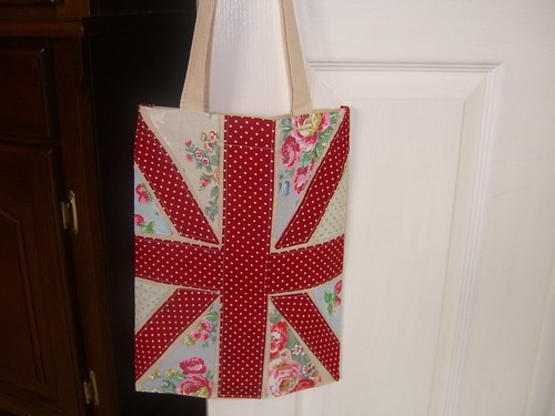 union jack tote bag by Aunt Angie Sews