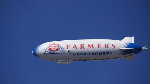Blimp Over the Metrodome