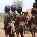 Dentro de uma vila Himba